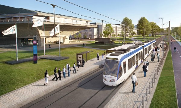 impressie tram 19 TU Delft – bijgesneden